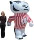 Wisconsin Bucky 8 Ft Inflatable Figurine