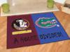 Florida State Seminoles - Florida Gators - A House Divided Rug