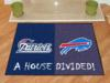 New England Patriots - Buffalo Bills - A House Divided Rug
