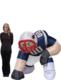 New England Patriots Bubba 5 Ft Inflatable Figurine