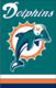 "Miami Dolphins 44"" x 28"" Applique Banner Flag"