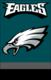 "Philadelphia Eagles 44"" x 28"" Applique Banner Flag"
