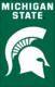 "Michigan State University 44"" x 28"" Applique Banner Flag"