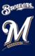 "Milwaukee Brewers 44"" x 28"" Applique Banner Flag"