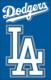 "Los Angeles Dodgers 44"" x 28"" Applique Banner Flag"